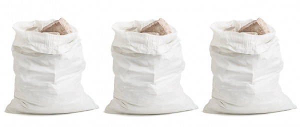 Puinzakken 3 stuks 55x66cm max 40kg
