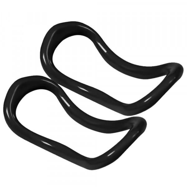 NordFalk yoga ringen 2 stuks zwart